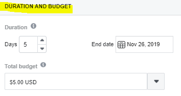 Boost Post Duration and Budget Options