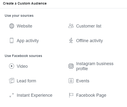 Complete List Facebook Custom Audiences