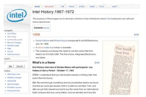 The Story of Intelpedia: A Model Corporate Wiki